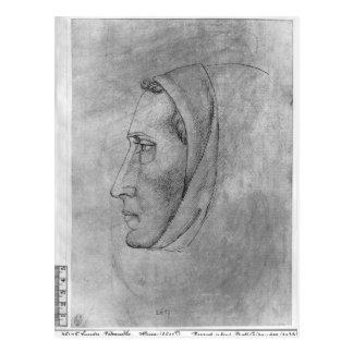 Carte Postale Tête d'un moine, le de l'album de Vallardi