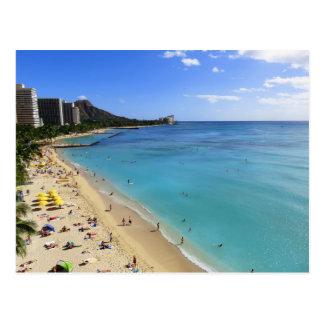 Carte Postale Tête et Waikiki de diamant