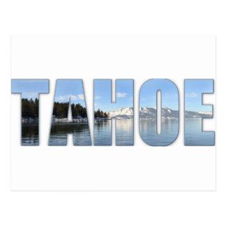 Carte Postale Texte du lac Tahoe
