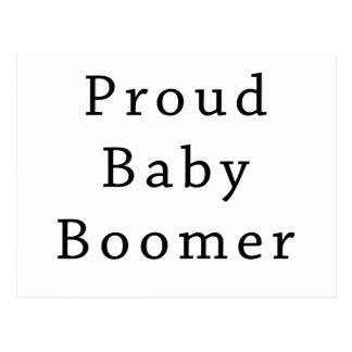 Carte Postale Texte fier de baby boomer seulement