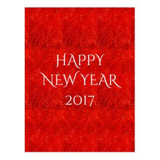 Carte Postale Texte lumineux de fête de bonne année de couleur