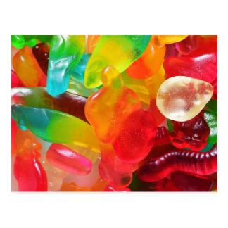 Carte Postale texture colorée de gomme de gelée
