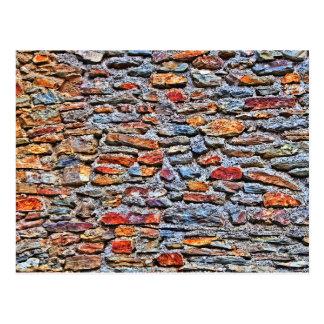 Carte Postale Texture de mur en pierre