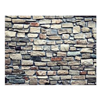Carte Postale Texture en pierre de mur de roche