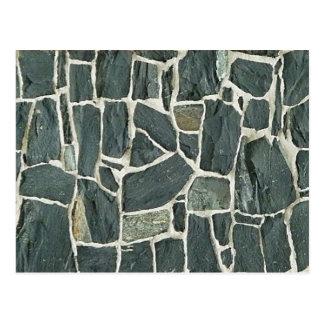 Carte Postale Texture irrégulière de mur de pierres