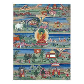 Carte Postale Thanka peint par Bhutanese des contes de Jataka