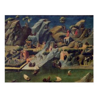 Carte Postale Thebaid, c.1410 (tempera sur le panneau) (voyez