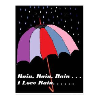 Carte Postale Thème de parapluie