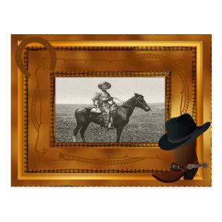 Carte Postale Thème occidental avec le modèle photo de botte et