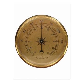 Carte Postale Thermomètre de Steampunk