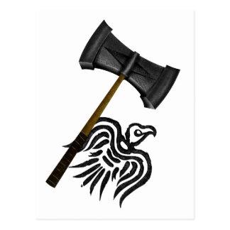 Carte Postale Thor de marteau de guerre de Viking