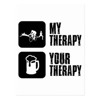 Carte Postale thriathlon mes conceptions de thérapie