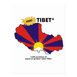 Carte Postale Tibet* libre