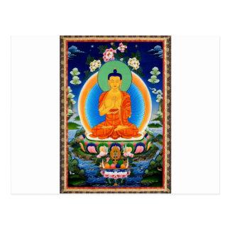 Carte Postale Tibétain Thangka Prabhutaratna Bouddha
