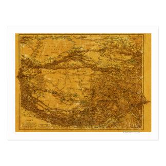 Carte Postale TibetPanoramic MapTibet 2