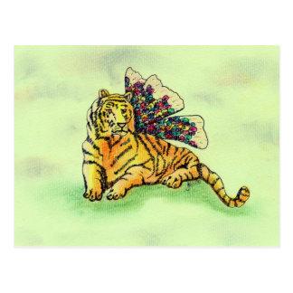 Carte Postale Tigre avec des ailes