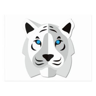 Carte Postale Tigre de blanc de bande dessinée