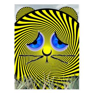 Carte Postale Tigre triste que nous nous déplaçons