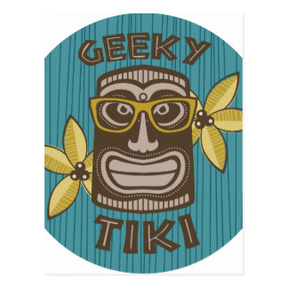 Carte Postale Tiki Geeky