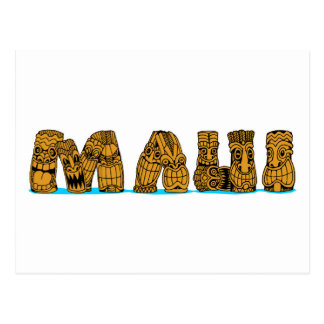 Carte Postale Tiki Maui