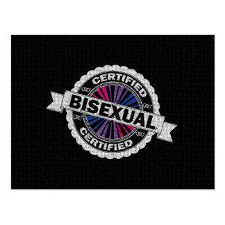 Carte Postale Timbre bisexuel certifié