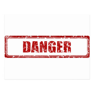 Carte Postale Timbre de danger