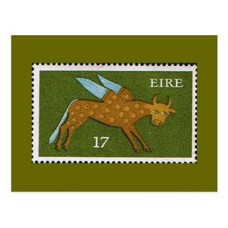 Carte Postale Timbre-poste décimal d'Eire Irlande 1974