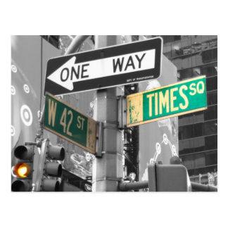 Carte Postale Times Square B&W
