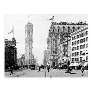 Carte Postale Times Square en 1908