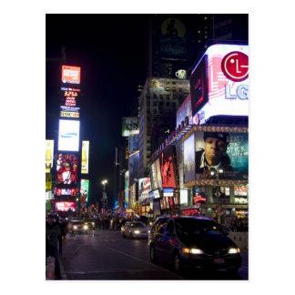 Carte Postale Times Square la nuit à Manhattan, New York