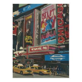 Carte Postale Times Square lumineux 2012 de lumières