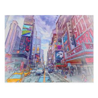 Carte Postale Times Square New York par le Mac de Shawna