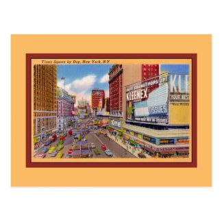 Carte Postale Times Square vintage par jour New York