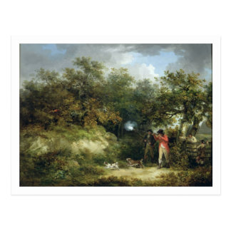 Carte Postale Tir de faisan (huile sur la toile) 3