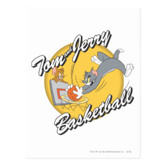 Carte Postale Tom et basket-ball 2 de Jerry