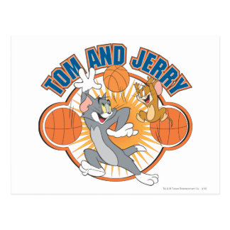 Carte Postale Tom et basket-ball 4 de Jerry