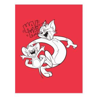 Carte Postale Tom et Jerry   Tom et rire de Jerry
