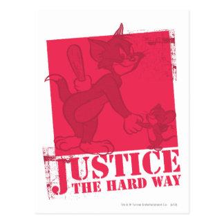 Carte Postale Tom et juge de Jerry la manière dure