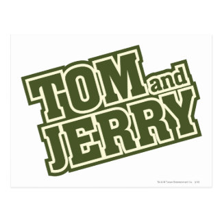 Carte Postale Tom et logo 3 de Jerry