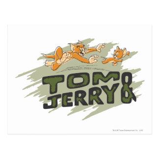 Carte Postale Tom et logo de chasse de Jerry