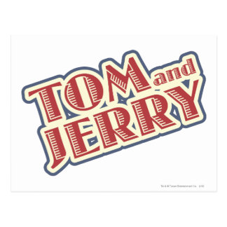 Carte Postale Tom et logo de Jerry