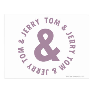 Carte Postale Tom et logo rond 10 de Jerry