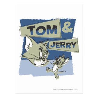 Carte Postale Tom et souris de Jerry Scaredey