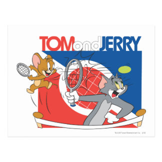 Carte Postale Tom et stars du tennis 4 de Jerry