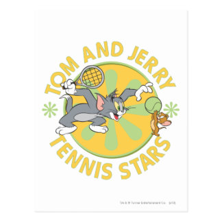 Carte Postale Tom et stars du tennis 5 de Jerry