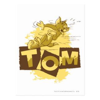 Carte Postale Tom glissant l'arrêt