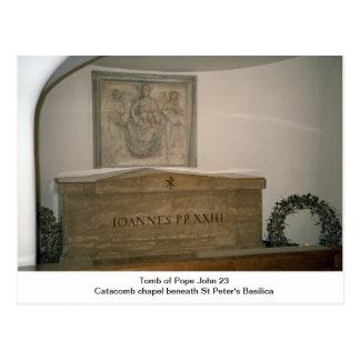 Carte Postale Tombe de pape John 23ème