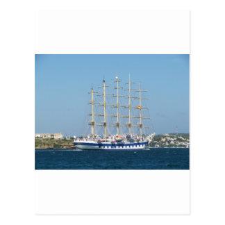 Carte Postale Tondeuse royale de bateau grand