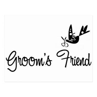 Carte Postale ToonDoveGroomsFriendblk