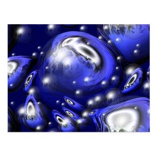 Carte Postale Torsion bleue superbe